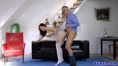 mom seduces sons friend Oldman after Blowjob