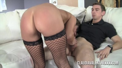 Pornstar Claudia Valentine rocks this young studs world