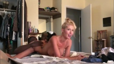 Busty angel fucked with pleasure by 2 BBC on vavations
