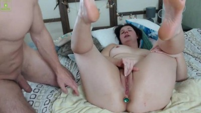 Anal squirt orgasm on bed