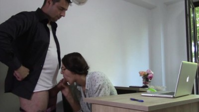 Teen Secretary Cum in Mouth With Her Office Boss