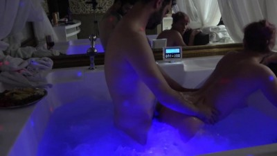 Russian milf is fucked in Jacuzzi