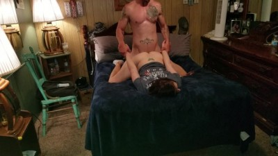Hot amateur wife smokes while getting fucked