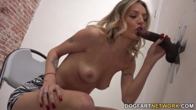 Hot Blond Natasha Starr Having Interracial Sex At A Glory Hole