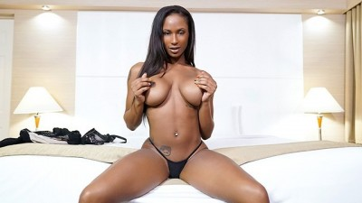 TeenyBlack - Horny Ebony Loves White Cock In Her Mouth And Pussy
