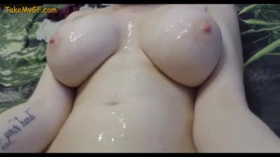 Big Tits on Skinny Young Girlfriend Fucking on Camera