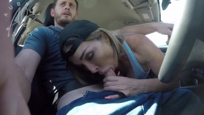 Fake UBER - Big Booty Aubrey Black Car in Sex