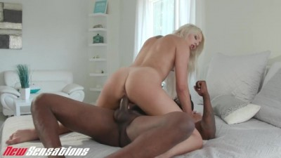 Blonde Teen Step Sis Chanel Grey Fucks Her Black Brother