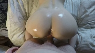 Big oily ass fucked hard POV