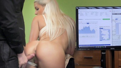 Blonde girl has wonderful sex for cash