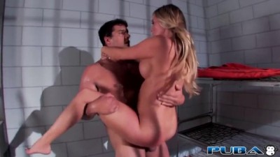 Busty Blonde Samantha Saint Fucking in Prison