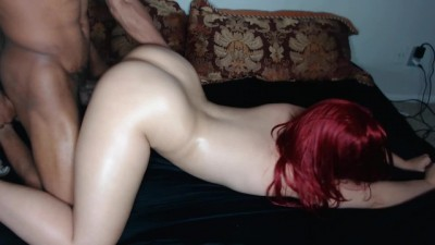 Red Head Bubble Butt Takes it Hard Face down Ass up