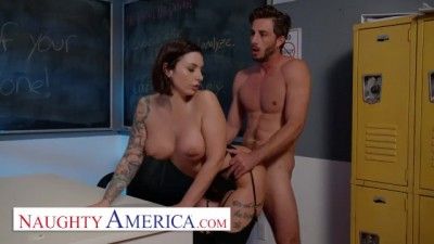 Busty Curvy Ivy LeBelle Fucks her a Handsome Student