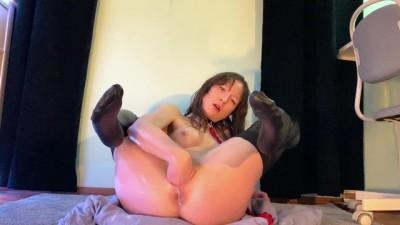 Hard Masturbation and Creamy pussy