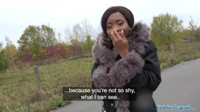 British Ebony Queen Kiki Minaj Fucked Outside